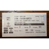 Ticket Lyon - Bayern Munich Ligue Des Champions 2�me Tour