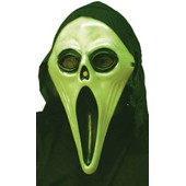 Masque 'screaming Fant�me' Phosphorescent, Avec Cagoule. Deguisement Adultes Halloween