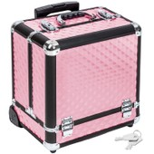Malette Trolley Valise Esth�tique Coiffure Maquillage Pro Rose 2008057