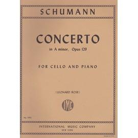 Concerto Violoncelle en la mineur op. 129 Partition - Violoncelle et Piano