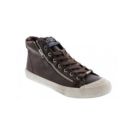 Pepe Jeans Brother Zip Marron, Baskets Mode Homme