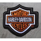 Patch Thermocolant Harley Davidson Bar Shield Taille Moyenne �cusson Neuf Homme Femme Biker Motard Chopper