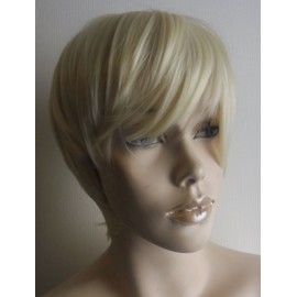Perruque Blonde Courte Androgyne