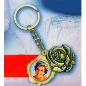 Porte Cl� Rose Princesse Diana Dor� A L'or Fin