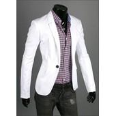 Veste Blazer Costume Homme Fashion Mode Tendance Look Branch� Classe Et D�contract�e