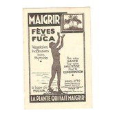 Ticket De Pes�e 1949 Maigrir F�ves De Fuca V�g�tales, � Base De Fucus La Plante Qui Fait Maigrir Silhouette Femme Nue