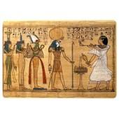 Autocollant Sticker Egypte Antique Ancienne Egyptien Papyrus Papier Ra Re