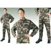 Combinaison 2 Zip Camouflage Modele Armee