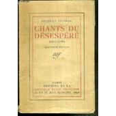Chants Du Desepere (1914-1920) de charles vildrac