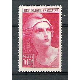 france, 1945-1947, marianne de gandon, n°733 (100 f. carmin), neuf.