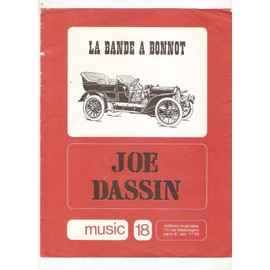 partition JOE DASSIN la bande à BONNOT