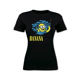 T-shirt Minions banana parodie Nirvana