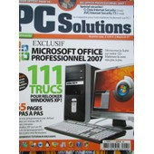 Pc Solutions Exclusif Microsoft Office Professionnel 2007 N� 5