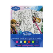 La Reine Des Neiges Ensemble Feuille Peinture Et Pinceau Fille Elsa Et Anna