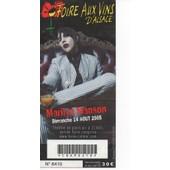 Ticket De Concert Marilyn Manson Foire Aux Vins D'alsace