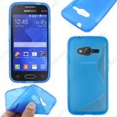 Ebeststar � Housse Etui Coque Silicone Gel Motif S-Line Protection Souple Pour Samsung Galaxy Trend 2 Lite Sm-G318h, Galaxy V Plus, Couleur Bleu + Film Protection D'�cran