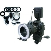 Anneau flash 100 LED Meike FC100 Macro LED Ring Light pour Canon Nikon Pentax Olympus
