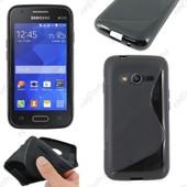 Ebeststar � Housse Etui Coque Silicone Gel Motif S-Line Protection Souple Pour Samsung Galaxy Trend 2 Lite Sm-G318h, Galaxy V Plus, Couleur Noir + Film Protection D'�cran