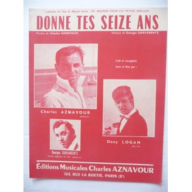 DONNE TES SEIZE ANS Charles Aznavour Dany Logan