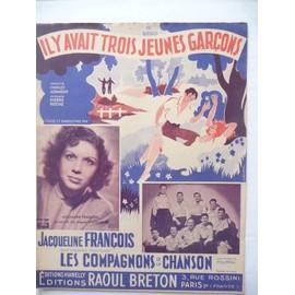 IL Y AVAIT TROIS JEUNES GARCONS Aznavour, Jacqueline François, Les compagnons de la chanson