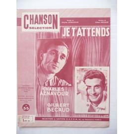 JE T'ATTENDS Aznavour, Gilbert Bécaud