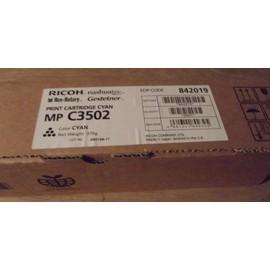 Ricoh 842019 - Cartouche De Toner Cyan Pour Nashuatec Mp C3502; Nrg Mp C3502; Rex Rotary Mp C3502; Aficio Mp C3502, Mp C3502ad