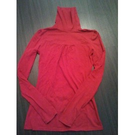 Pull Bershka Rouge Col Roul� Taille M