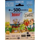 Carte Cadeau Vide Complete Gift Card Fnac Spirit Ast�rix Ob�lix Uderzo Rare Collector