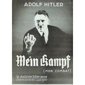 La Doctrine Hitl�rienne Hitler Et La France (Mein Kampf - Mon Combat) de HITLER (Adolf)