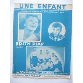 UNE ENFANT Edith Piaf, Aznavour, Les Compagnons de la Chanson