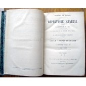 Journal Du Palais .Repertoire General.Table Complementaire 1857 A 1870.Tome Premier..Ann�e 1872 de RUBEN DE COUDER