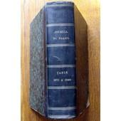Journal Du Palais .Repertoire General.Table Complementaire 1871 A 1880.Ann�e 1883 de FUZIER-HERMAN