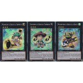 3 Cartes Yu-Gi-Oh Super Rare - Muzurhythm Le Genie De La Gratte Ys12-Fr040 +Temtempo Le Genie Du Tambour Ys12-Fr041 + Melomelody Le Genie De La Trompette Ys12-Fr042