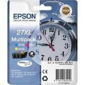 Epson 27xl Multipack - Jaune, Cyan , Magenta - Original - Blister - Cartouche D'encre - Pour Workforce Wf-3620dwf, Wf-3640dtwf, Wf-7110dtw, Wf-7610dwf, Wf-7620dtwf
