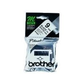 Brother M K221bz Bande Imprimante Noir Sur Blanc Ruban Plastique Rouleau 0 9 Cm X 8 M Consommable