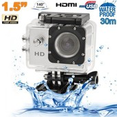 Cam�ra sport action �tanche ECRAN 1.5'' HD 1080p grand angle 140�