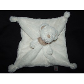 Doudou Plat Ours Ourson Simba Toys Benelux Kiabi Nicotoy Bandana Marron Beige /Cr�me/ �cru Blanc Cass� Comfort Blanket Comforter Soft Toy Peluche