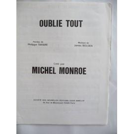 OUBLIE TOUT Michel MONROE James BOLDEN