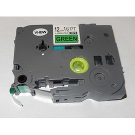 Cassette � Ruban Vert Vhbw 12mm Pour Brother P-Touch 2470, 2480, 2500, 2500c, 2500pc, 2600, 2610, 2700, 2700vp. Remplace: Tz-731, Tze-731.