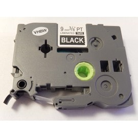 Cassette � Ruban Vhbw 9mm Pour Brother P-Touch 1290, 1750, 1800, 1850, 200, 220, 2400, 2450, 2460, 2470. Remplace: Tze-325.