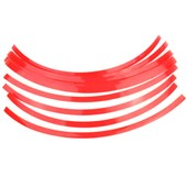 Liseret De Jante Moto Stickers Autocollant Decal Roue Pneu Rouge Largeur 10mm
