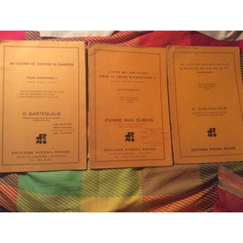 20 leçons de solfège à chanter cours élémentaire A  + LIVRE de solfège pour le cours élémentaire + livre 15 leçons progressives à chanter en clé de fa 4ème préparatoire B