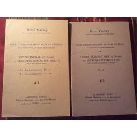 Cours élémentaire musicale général ( 3è année) 40 lectures rythmiques sans accompagnement de piano E3 + livre cours initial (1er année) 50 lectures chantées ( sol 2è) A1