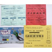 Coupe De France De Football - 4 Billets Finale 1990, 1991, 1992, 1995
