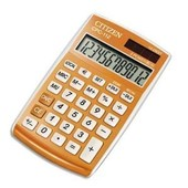 Citizen Calculatrice De Poche 12 Chiffres Cpc112 Laqu�e Orange Cpc112orwb