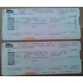 2 Billet Train Sncf N�mes-Lyon Part Dieu 29.09.09 Et Lyon Part Dieu-Paris Gare De Lyon 30.09.09