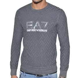 Ea7 - Pull Fin Col Rond - Homme - Train Core - Grey Gris