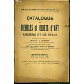 Catalogue De Vente Aux Encheres - Meubles Et Objets D'art Anciens Et De Style Provenant De La Succession De Monsieur J. Altmann - 5 Et 6 Aout 1928 de RAVANEL LOUIS