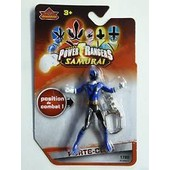Porte Cles Saban's Power Rangers Samurai Position De Combat Force Bleue