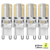 Sunix� 4x Haute Puissance G9 3w 64 Smd 3014 Ac 220-240v Led Lampe Silicone Ampoule � Broches Spotlight �conomie D'�nergie Blanc Chaud Su067